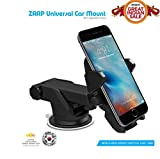 #4: ZAAP Quick Touch One Adjustable Car Windshield/Dashboard/Working Desk Mount for Phones upto  2.3 - 3.2 inches, 3rd Generation (Black)