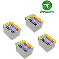 Compatible Printer Inks Cartridges to replace Epson T0711 T0712 T0713 T0714 (T0715) (4 Set = 16 inks)