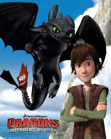 dragons-mini-poster-defenders-of-berk-accessoires-pas-de-cadre