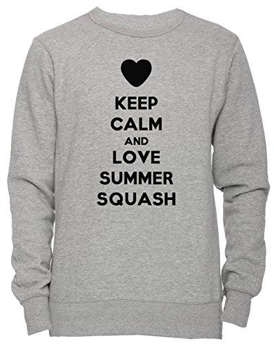 Keep Calm And Love Summer Squash Unisex Herren Damen Jumper Sweatshirt Pullover Grau Größe M Men's Women's Grey Medium Size M