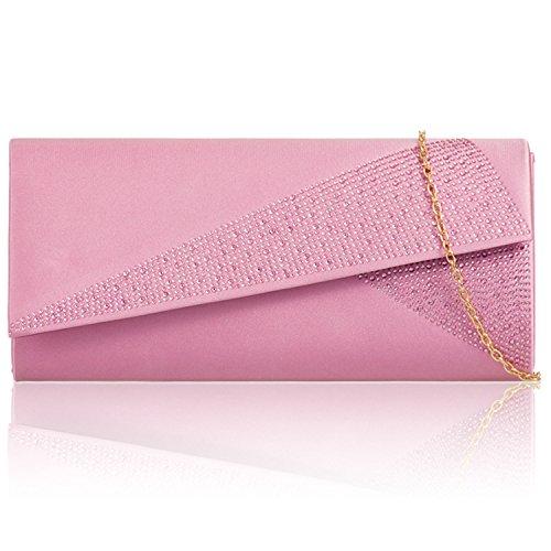 Zarla, da donna, misura grande, motivo:-Borsa da donna, per abiti da sera, abiti da sera Pink Gem