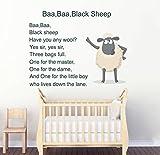 ZigRocket Baa Baa Black Sheep Kinder Gedicht DIY Wandaufkleber Entfernung Vinyl Wohnkultur Wand-dekor Aufkleber Wandbilder 85x85 cm