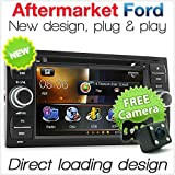 Tunez - Reproductor de DVD estéreo para Ford Focus Transit Connect Mondeo Kuga C-MAX S-MAX Galaxy Fiesta Fusion (230 mm x 120 mm, Ancho x Alto)