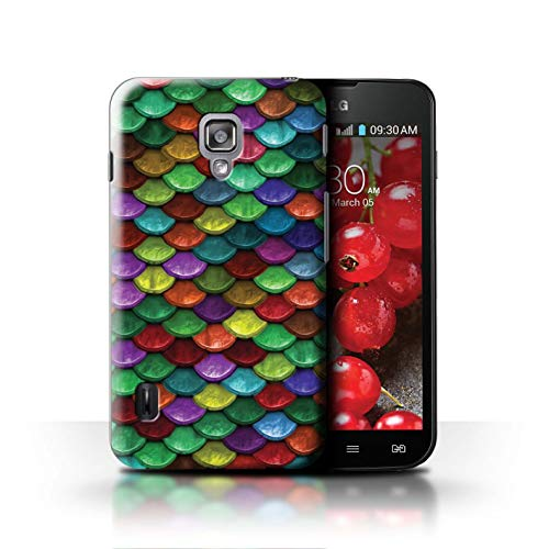 Stuff4® Hülle/Case für LG Optimus L7 II Dual/Lebhafte Partyfarben Muster/Aquarell Meerjungfrau Skalen Kollektion (Lg Dual Ii Optimus Case L7)
