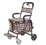 T-Rollstühle Rollstuhl, ältere Wanderer, Gehhilfe, Alter Einkaufswagen, vierrädrige Laufkatze