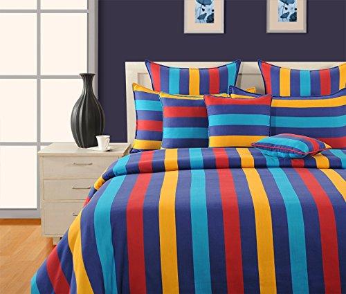 Yuga 8 in Taschen-Set Mehrfarbenbaumwollmaterial Tröster Bettwäsche-Set Bett Stücke -