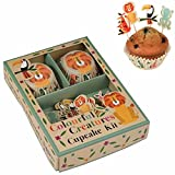 LS Design Vintage Papier Muffin-Set Backförmchen Cupcake Muffinform Zoo