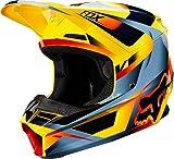 Fox Helm V1 Motif - Blau/Grau