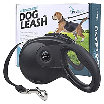 PetTech Dog Lead Retractable Dog Leash, 16FT Super Strong Leash, Comfort Durable Grip, Tangle-Free Feeder, Safe for Dogs 15-115lbs! from PetTech