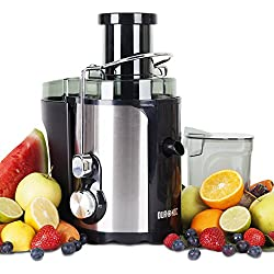 Duronic JE5 Mini Centrifugeuse à jus compacte de 500W pour fruits et légumes – Carafe 1 L