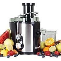 Duronic JE5 kompakter Zentrifugen Entsafter / Saftpresse / Juicer für ganze Früchte (70mm Öffnung), elektrisch, 500 Watt – Inklusive Saftbehälter