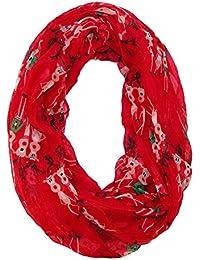 David & Young Women's Christmas Reindeer Holiday Infinity Loop Scarf
