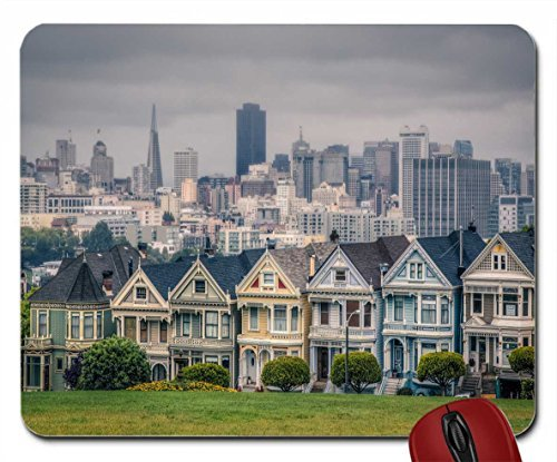 victorian-houses-in-alamo-square-san-wallpaper-mouse-pad-computer-mousepad