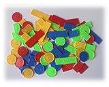 Jetons x 100 pour poker, belote, rami, tarot, nain jaune,... : 1 boite de 100 jetons en plastique en 4 couleurs