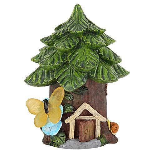 Jeffergarden Solarenergie Garten Dekor Szene Haus Licht Patio Ornamente Hof eingebaute Batterie(Tree House) (Outdoor Kits House Tree)