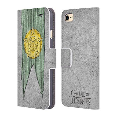Offizielle HBO Game Of Thrones Targaryen Sigil Flags Brieftasche Handyhülle aus Leder für Apple iPhone 6 Plus / 6s Plus Tyrell