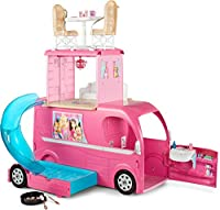 When Barbie hits the road in this camper, anything is possible -- because this RV offers more than meets the eye!;Lift the handle to transform the glam vehicle into a three-story play set with all kinds of possibilities for outdoor camping ad...