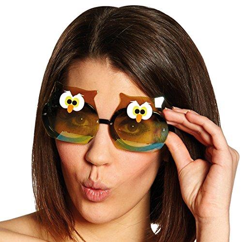 NET TOYS Witzige Eulenbrille Partybrille Eule Vogel Brille Uhu Faschingsbrille
