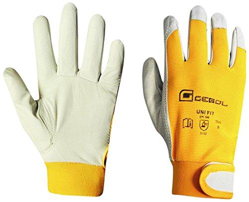 Siena Garden Handschuh UniFit, M, Nappaleder/Spandex, gelb, 263705 (Spandex Gelb)