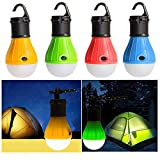 TianranRT 4 Stück Outdoor Tragbar Hängend LED Camping Zelt Licht Birne Angeln Laterne Lampe