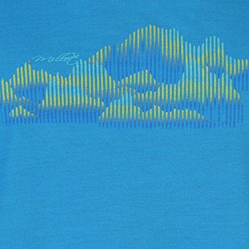 Millet Femme Soft T-Shirt Tee Top Haut Decontracte Manche Courte Col Rond Bleu