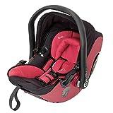 Kiddy 41920EV055 Evolution Pro 2 Babyschale, patentierte KLF-Liegefunktion, Isofix-fähig, Gruppe 0+ (0-13 kg, Geburt-ca. 15 Monate), Cranberry
