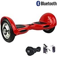 "Cool&Fun Hoverboard Patinete Eléctrico Scooter Monopatín Eléctrico Auto-equilibrio Patín de 10"" From SHOP GYROGEEK 350X2W (Rojo)"