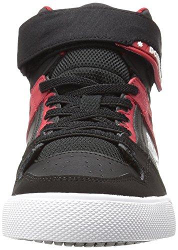 DC - Spartan Haut Ev chaussures de garçon Black/Red
