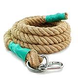 Aoneky Natürliches Jute-Seil, Trainingsseil, Krafttrainingseil, Sportseil, Schwungseil für Fitness &Tauziehen