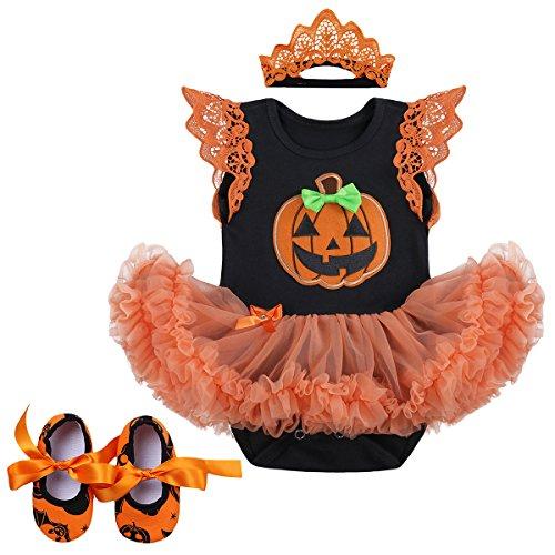 Orange Santa Kostüm - IMEKIS Neugeborenes Baby Mädchen Halloween