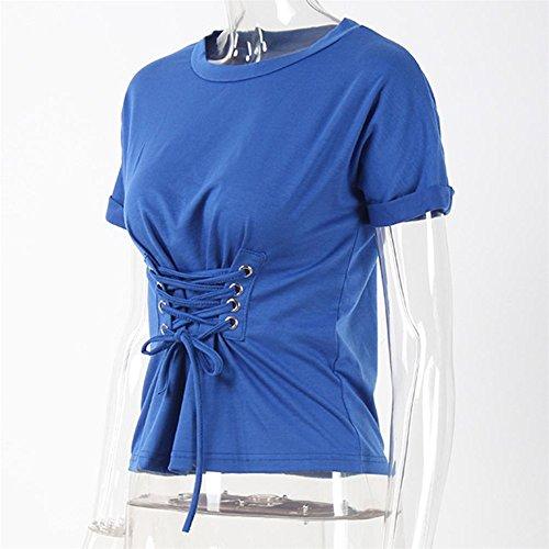 Longra Donna Camicia di camicia a maglia Blu