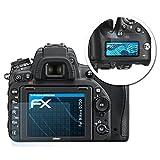 atFoliX Displayschutzfolie für Nikon D750 Schutzfolie - 3er Set FX-Clear kristallklare Folie