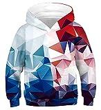 Idgreatim Ragazzo Sweatshirt Pullover con Cappuccio 3D Pullover con Cappuccio con Tasca L