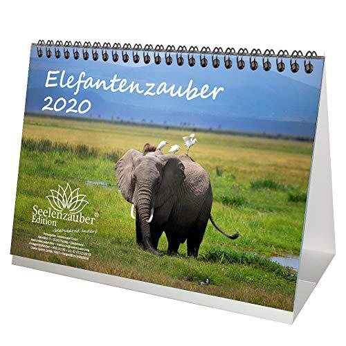 Elefantenzauber - Calendario de mesa (DIN A5, 2020), diseño de elefantes