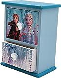 Disney Frozen - Portagioie in Legno con Due cassetti e 2 organizzatore di Gioielli per Armadio, Decorazione Festiva, Articoli per la casa, Unisex, per Adulti, Multicolore (Multicolore), Unico
