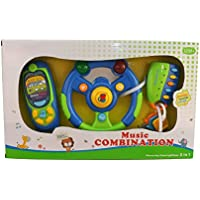 Vinsani 3 in 1 Light & Sound Musical Baby Set - Mobile Phone Smart Remote Fob and Car Steering Wheel