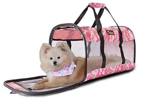 Ondoing Hunde Reisetasche Transportbox Klappbar sicherheit Größe:51*30*30cm(L*W*H) Für Haustiere bis zu ca.14 kg
