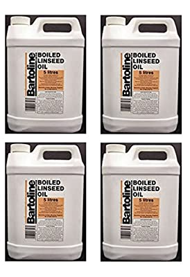 4 x Bartoline Boiled Linseed Oil Wood Sealer Garden Furniture Oil Protector 5 Litre (4)