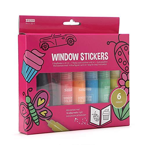 Sense 28214 Kids Window Sticker Maker Self-Adhesive Sticker Craft Kit Creative DIY Gift for Children
