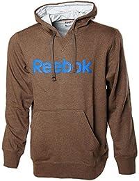 reebok jumper. men\u0027s reebok logo hoodie, hooded sweatshirt, jumper, hoodie - brown jumper