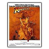 Indiana Jones Raiders of The Lost Steven Spielberg Plaque en métal Plaque Murale