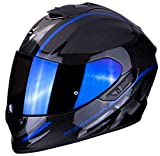 Scorpion 14-273-02-06 Motorrad Helm, Schwarz/Blau, XL