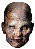 The Walking Dead - Raisin Zombie Papp Maske, aus hochwertigem Glanzkarton mit Augenlöchern, Gummiband - Grösse ca. 30x21 cm