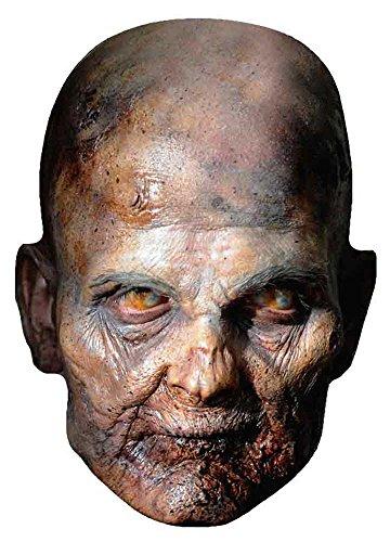 The Walking Dead–Raisin Zombie Máscara de Cartón (Efecto satinado, agujeros en los ojos y cinta de goma, tamaño 30x 21cm