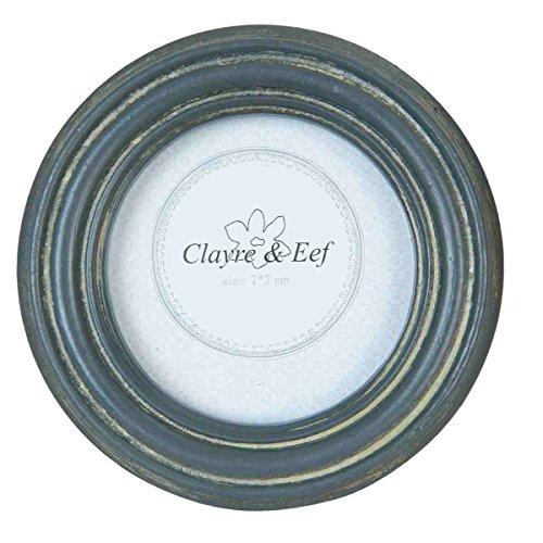 Clayre & Eef 2F0358 Bilderrahmen Fotorahmen grau ca. Ø 11 cm