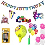 #10: Sshakuntlay Baloon Combo Pack of 53 items (1 HAPPY BIRTHDAY BANNER, 1 PKT MAGIC CANDEL 10 POLKA DOT BALLOON, 20 HAPPY BIRTHDAY BALLOON, 6 PAPER STRIPS, 6 EYE MASK, 1 BIG BALLOON WITH1 PKT THERMACOL MULTI COLOR BALLS, 6 WHISTLE AND 1 PUMP FOR BALLOON)