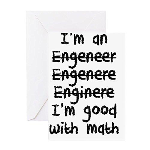 CafePress–Ich bin ein Ingenieur I 'm Good At Math Grußkarten–Grußkarte, Note Karte, Geburtstagskarte, innen blanko, matt