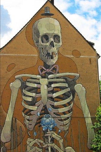 Skeleton Mural Journal: Lined (Wall Street Skeleton)