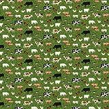 Northcott Farm Animal Stoff-Bauernhof Tiere