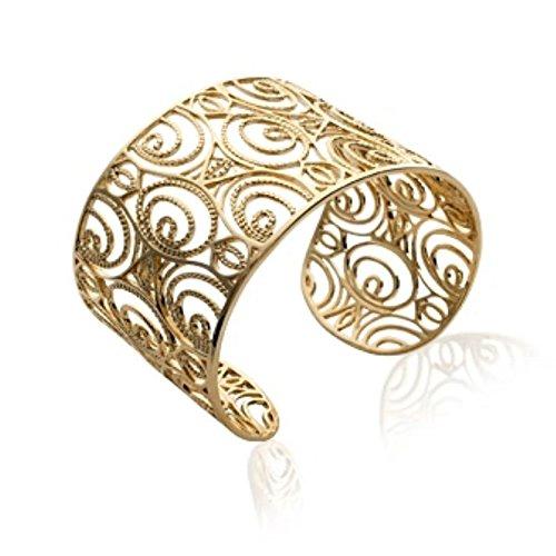 Bracelet Femme Jonc Plaqué Or 750 3 Microns